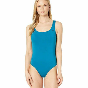 NWT! NIKE BLUE ABYSSE VERT ONE PIECE SWIMSUIT!